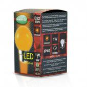 Ampoule LED B22 1W Orange