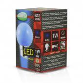 Ampoule LED B22 1W bleu