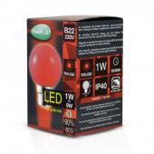 Ampoule LED B22 1W Rouge