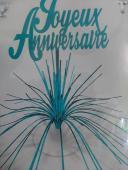 Centre de table Joyeux Anniversaire turquoise