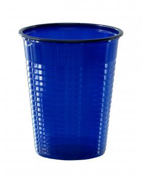 50 gobelets plastique bleu marine
