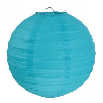 2 lanternes 30cm turquoise