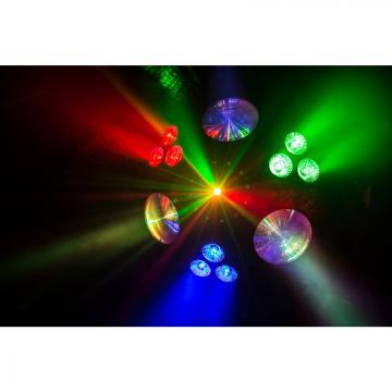Alien effet led + uv + stroboscope + laser