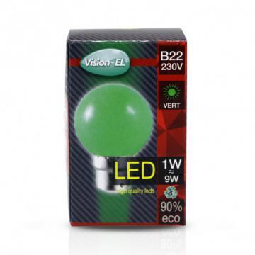 Ampoule LED B22 1W Vert