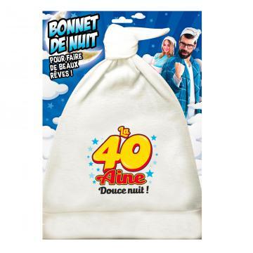 Bonnet de nuit humoristique 40aine