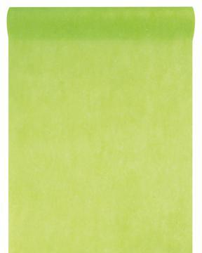 Chemin de table uni vert anis