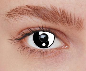 Lentilles fantaisie ying & yang - sans correction