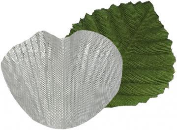 Sachet de 100 pétales avec feuilles couleur argent