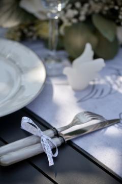 ruban satin blanc colombes