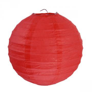 2 lanternes 20cm rouge