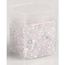 Pot de perles de pluie translucides