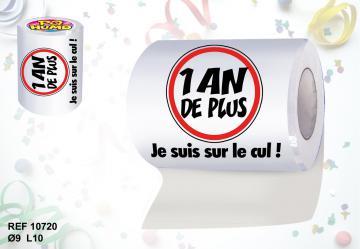 Rouleau papier toilette 1an +
