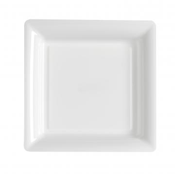 Assiettes carrées à dessert blanches