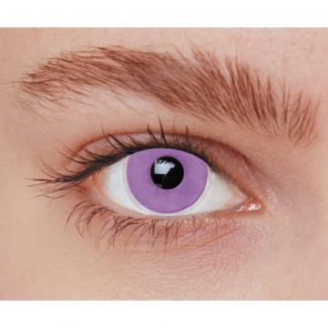 Lentilles fantaisie iris violet - sans correction