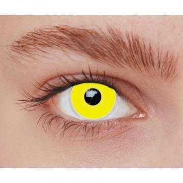 Lentilles fantaisie iris jaune - sans correction