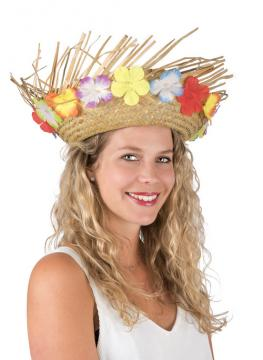 Chapeau paille hawaïen