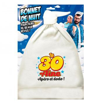 Bonnet de nuit humoristique 30aine