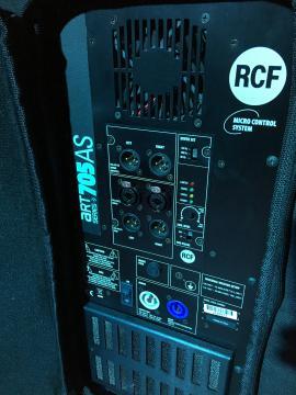 Location pack rcf amplifié 2500 Wrms
