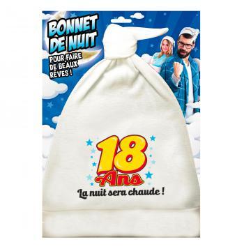 Bonnet de nuit humoristique 18ans