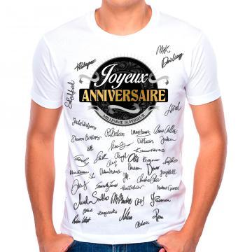 T-shirt anniversaire homme
