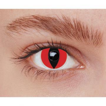 lentilles fantaisie chat rouge - sans correction
