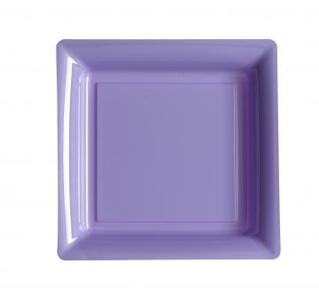 Assiettes carréesà dessert lilas