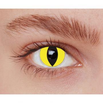Lentilles fantaisie chat jaune - sans correction