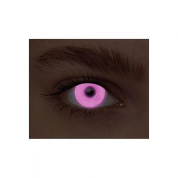 Lentilles fantaisie néon rose - sans correction