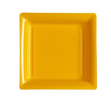 Assiettes carrées à dessert mandarine