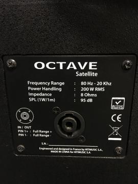 Système octave 1000 Wrms