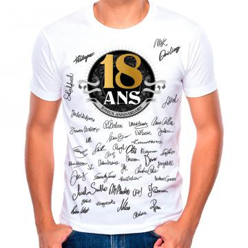 T-shirt 18 ans homme