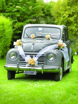 Kit voiture mariage blanc