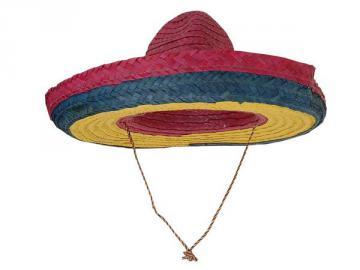 Chapeau mexicain multicolore