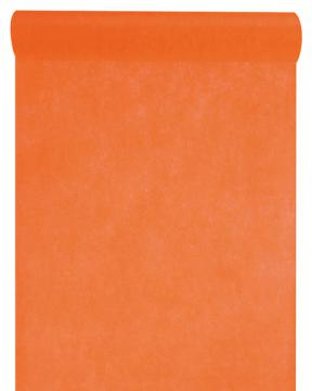 Chemin de table uni orange